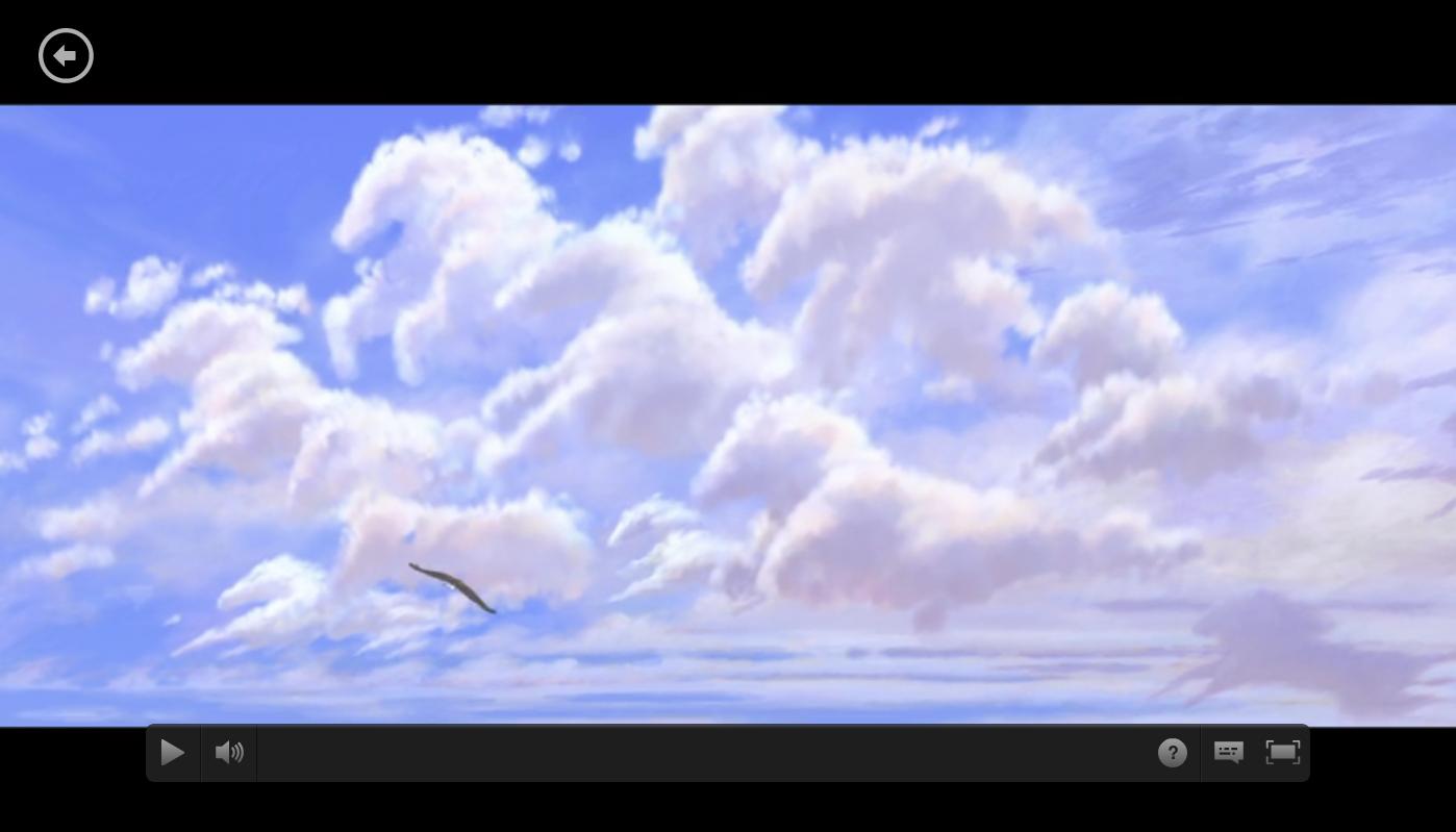 Um frame com as núvens em fórma de cavalo